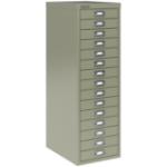 Bisley SoHo Multidrawer Cabinet 15-Drawer H860mm Grey Ref 101229