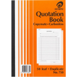 OLYMPIC 750 QUOTATION BOOK CARBONLESS DUPLICATE 297 X 210MM A4 50 LEAF