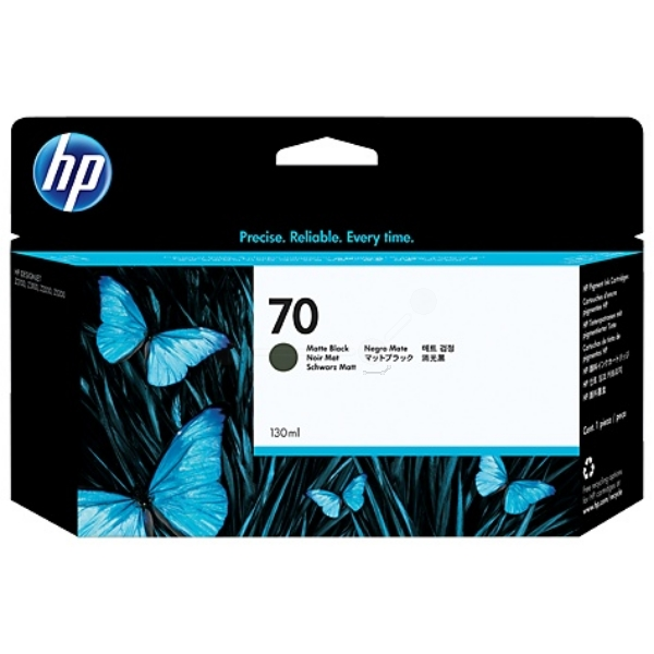 HP No 70 130 ml Matte Black Ink Cartridge with Vivera Ink - C9448A
