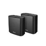 ASUS ZenWiFi AC wireless router Gigabit Ethernet Tri-band (2.4 GHz / 5 GHz / 5 GHz) Black
