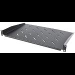 "Intellinet 19"" Cantilever Shelf, 1U, Shelf Depth 350mm, Vented, Black"
