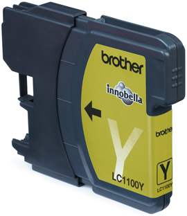 Brother LC-1100Y Yellow Ink Cartridge Blister Pack Original Amarillo