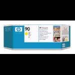 HP Limpiador de cabezales de impresión y cabezal de impresión DesignJet 90 amarillo