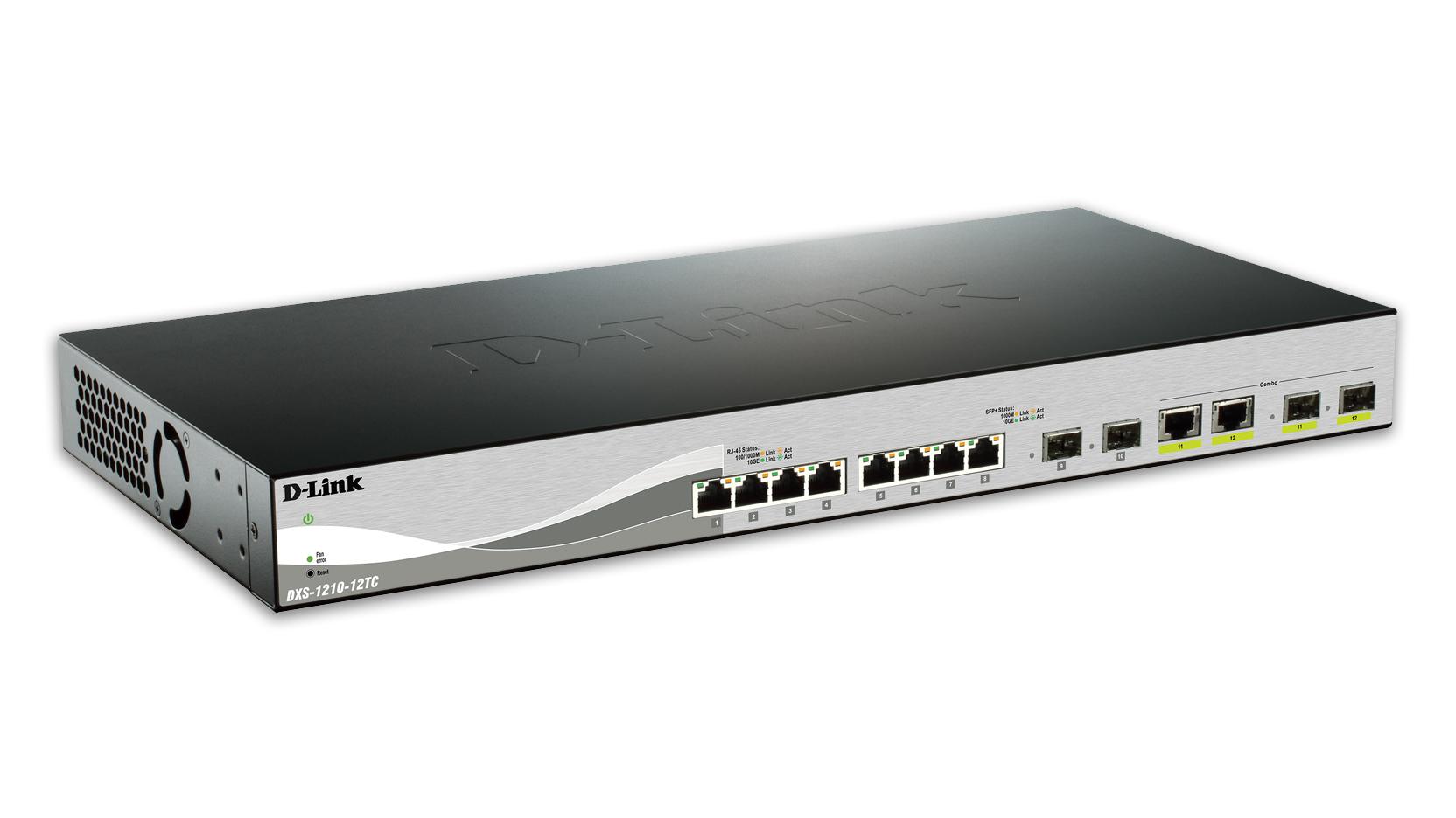 D-Link DXS-1210-12TC switch Gestionado L2 10G Ethernet (100/1000/10000) Negro, Plata 1U