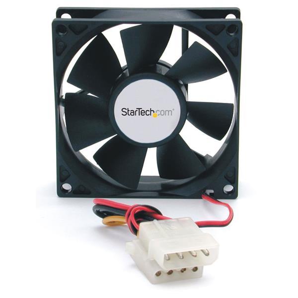StarTech.com 80x25mm Dual Ball Bearing Computer Case Fan w/ LP4 Connector FANBOX