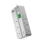APC PM6U-UK surge protector 6 AC outlet(s) 230 V 2 m White