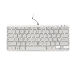 R-Go Tools Compact Keyboard, QWERTY (IT), white, wired