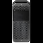 HP Z4 G4 DDR4-SDRAM W-2225 Tower Intel Xeon W 16 GB 256 GB SSD Windows 10 Pro Workstation Black