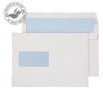 Blake Purely Everyday White Window Self Seal Wallet C5 162x229mm 90gsm (Pack 500)