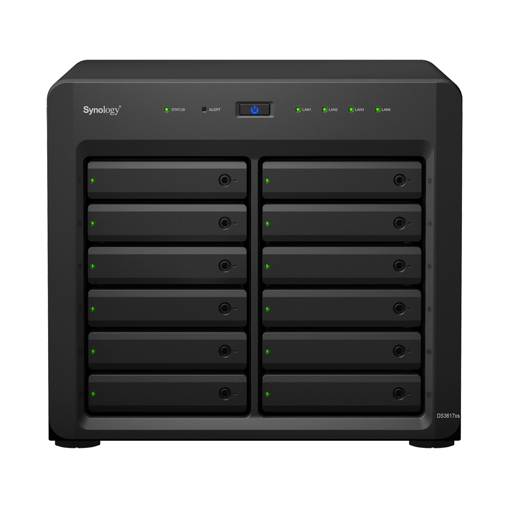 Synology DiskStation DS3617xs Ethernet LAN Desktop Black NAS