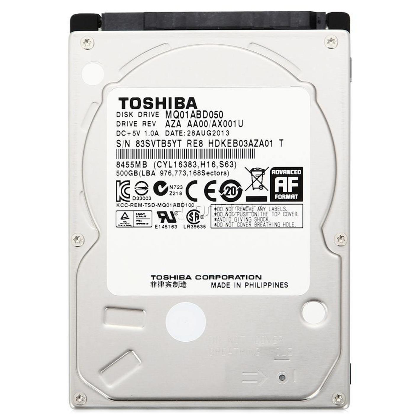 TOSHIBA 500GB 2.5'' 2.5