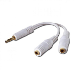 4XEM 4XISPLITTER audio cable 2 x 3.5mm 3.5mm White