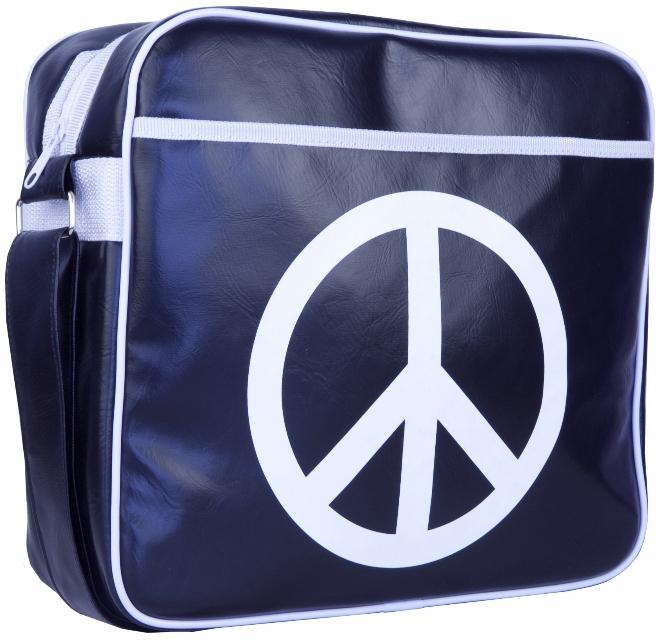 "Urban Factory Peace & Love Laptop Bag 12.5"" Blue"