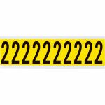 Brady 3440-2 self-adhesive label Rectangle Removable Black, Yellow 10 pc(s)