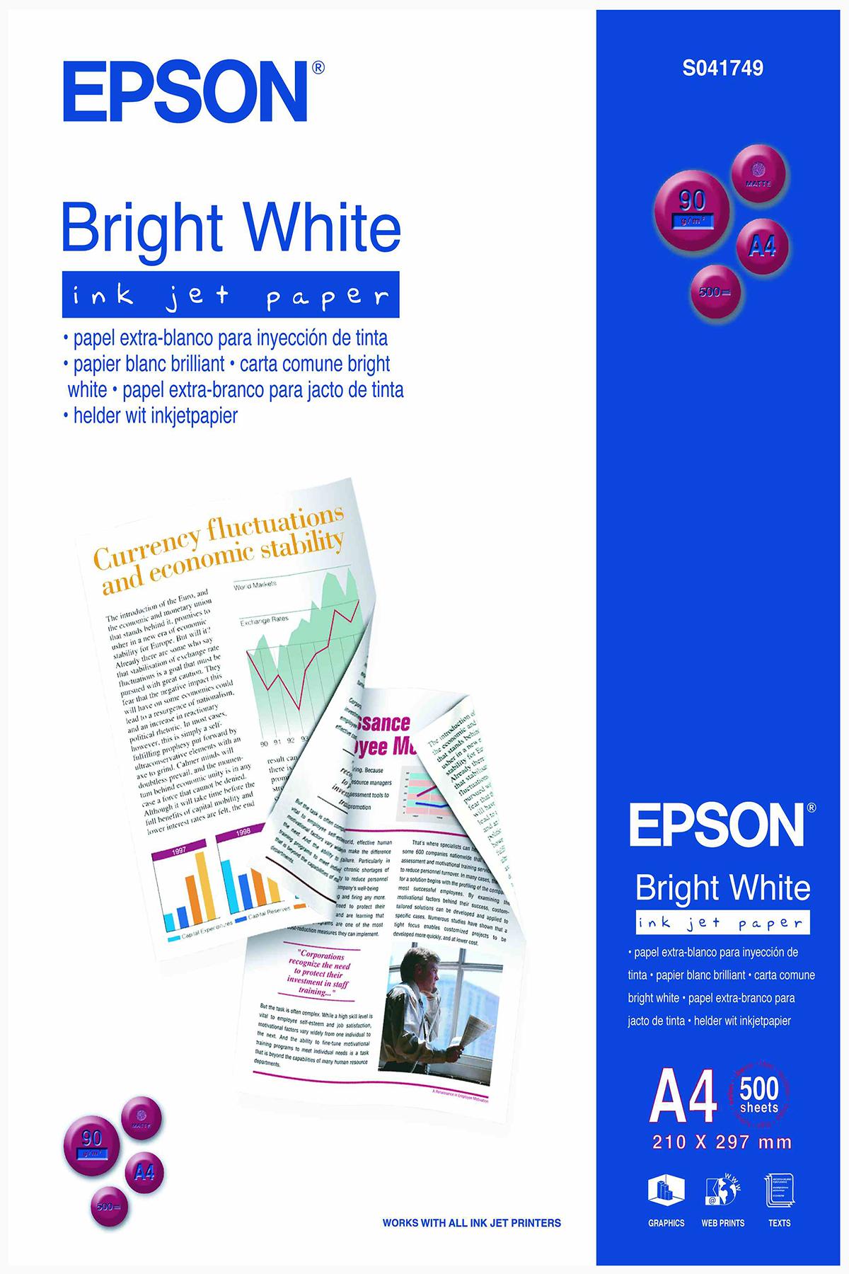 Epson Bright White Inkjet Paper - A4 - 500 Vellen