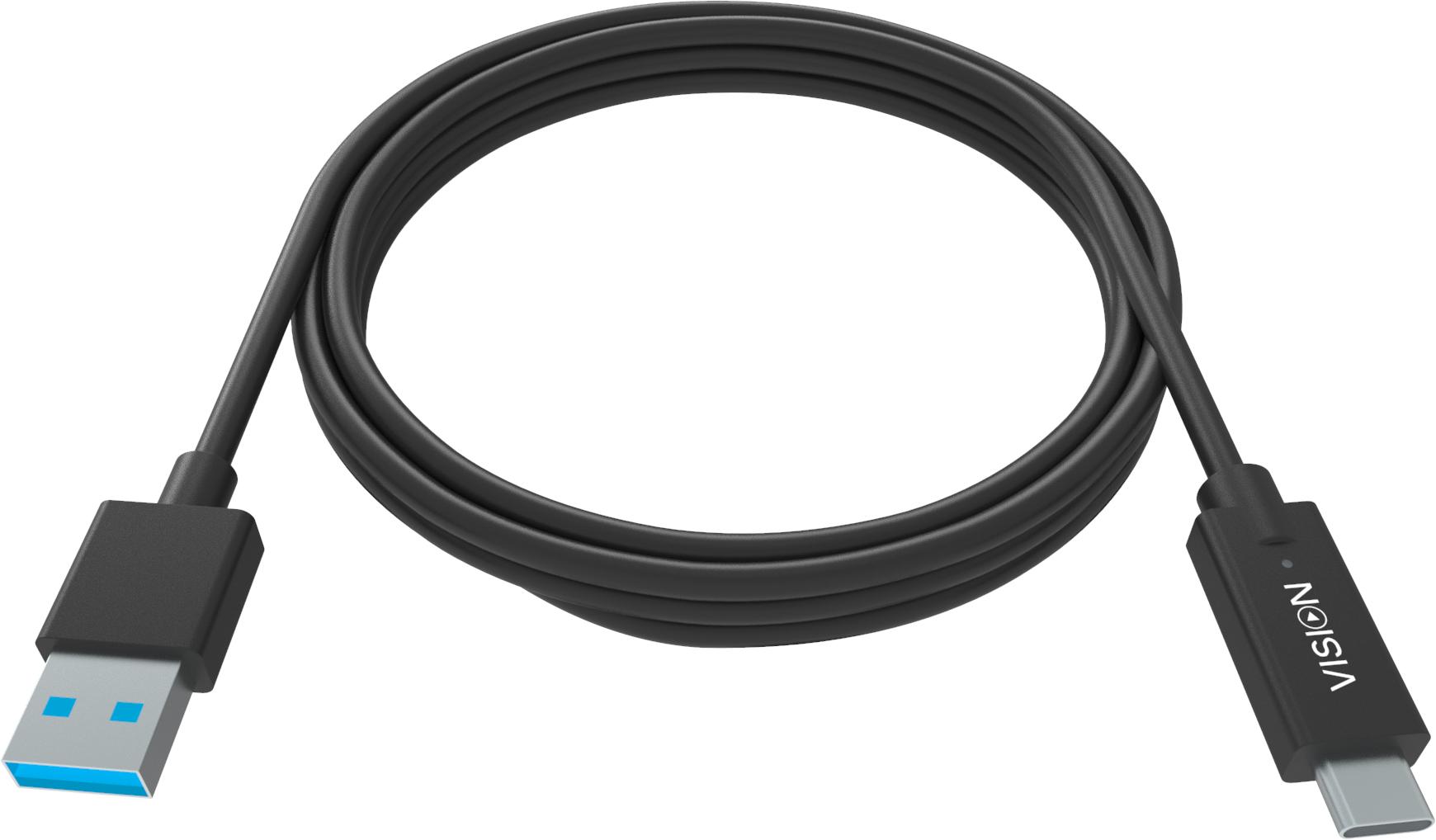 Vision TC 2MUSBCA/BL cable USB 2 m 3.2 Gen 1 (3.1 Gen 1) USB A USB C Negro