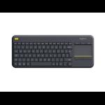 Logitech K400 Plus toetsenbord RF Draadloos AZERTY Belgisch Zwart