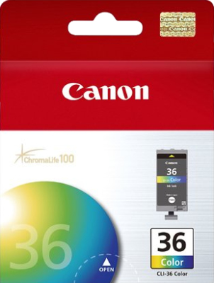 Canon CLI-36C Blue, Green, Yellow ink cartridge