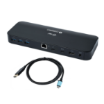 i-tec Thunderbolt 3 Dual 4K Docking Station + USB-C to DisplayPort Cable (1,5 m) + Power Delivery 85W