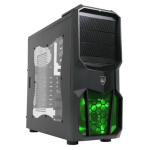 CIT Neptune Mini Tower Gaming Case with Green Leds