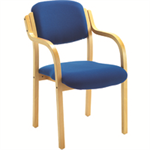 Jemini Blue Wood Frame Side Chair With Arms KF03514