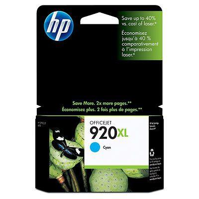 HP 920XL Cyan Officejet Ink Cartridge Original Cian