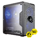 Gorilla Gaming Lite v3 Signature Edition - i3 9100F 3.6GHz, 8GB RAM, 240GB SSD, RX 570 4GB