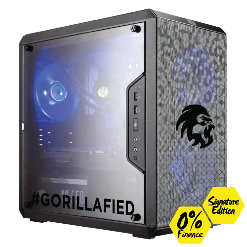 Gorilla Gaming Lite v3 Signature Edition - i5 9400F 2.9GHz, 8GB RAM, 240GB SSD, RX 570 4GB