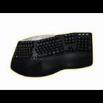 "Adesso Tru-Formâ""¢ Media - Contoured Ergonomic Keyboard with Hot Key USB+PS/2 QWERTY Black keyboard"