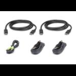 Aten 2L-7D03UDPX5 KVM cable 3 m Black