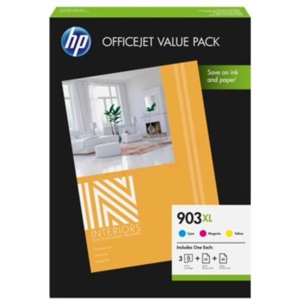 HP 1CC20AE (903XL) Ink cartridge multi pack, 825 pages, 10ml, Pack qty 3