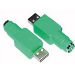 Microconnect USB A/PS/2 M-F USB type A PS/2 Green