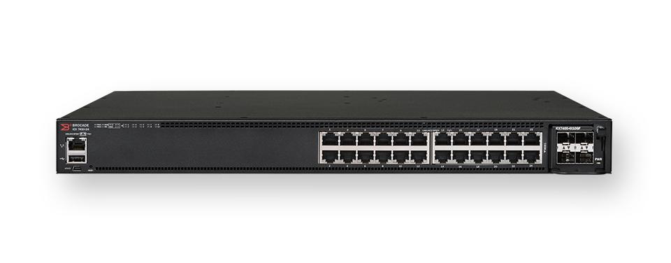 Brocade ICX 7450-24 Managed L3 Gigabit Ethernet (10/100/1000) 1U Black