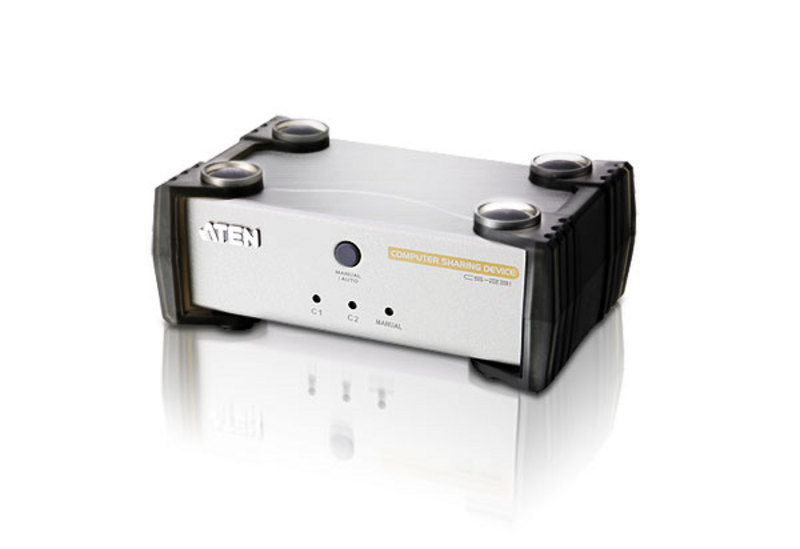 Aten Single Computer Shared By 2 Consoles (USB & PS/2) (1 KVM Cables included)