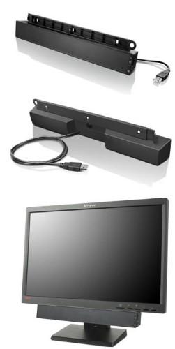 Lenovo USB Soundbar soundbar speaker 2.0 channels 2.5 W Black
