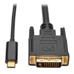 Tripp Lite USB Type-C (USB-C) to DVI Adapter Cable (M/M), 1920 x 1080 (1080p), 0.91 m