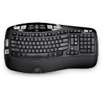 Logitech K350 keyboard RF Wireless QWERTZ German Black