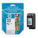 HP 23 Tri-colour Inkjet Print Cartridge