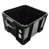 REALUSE REALLY USEFUL 42 LITRE RECYCLED BOX BLK