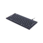 R-Go Tools R-Go Compact Break Keyboard, QWERTY (UK), black, wired RGOCOUKWDBL