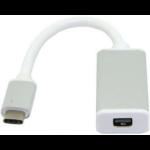 Microconnect USB3.1CMDPW video cable adapter 0.2 m USB C Mini DisplayPort White