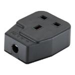 Cablenet UK Mains Socket 13Amp Rewireable Black (BS1363)