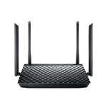 ASUS RT-AC1200G+ router inalámbrico Doble banda (2,4 GHz / 5 GHz) Gigabit Ethernet Negro
