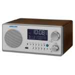 Sangean WR-22 Clock Digital Walnut Clock/Portable Radio