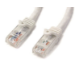 StarTech.com Cable de Red Ethernet Cat6 Sin Enganche de 5m Blanco - Cable Patch Snagless RJ45 UTP