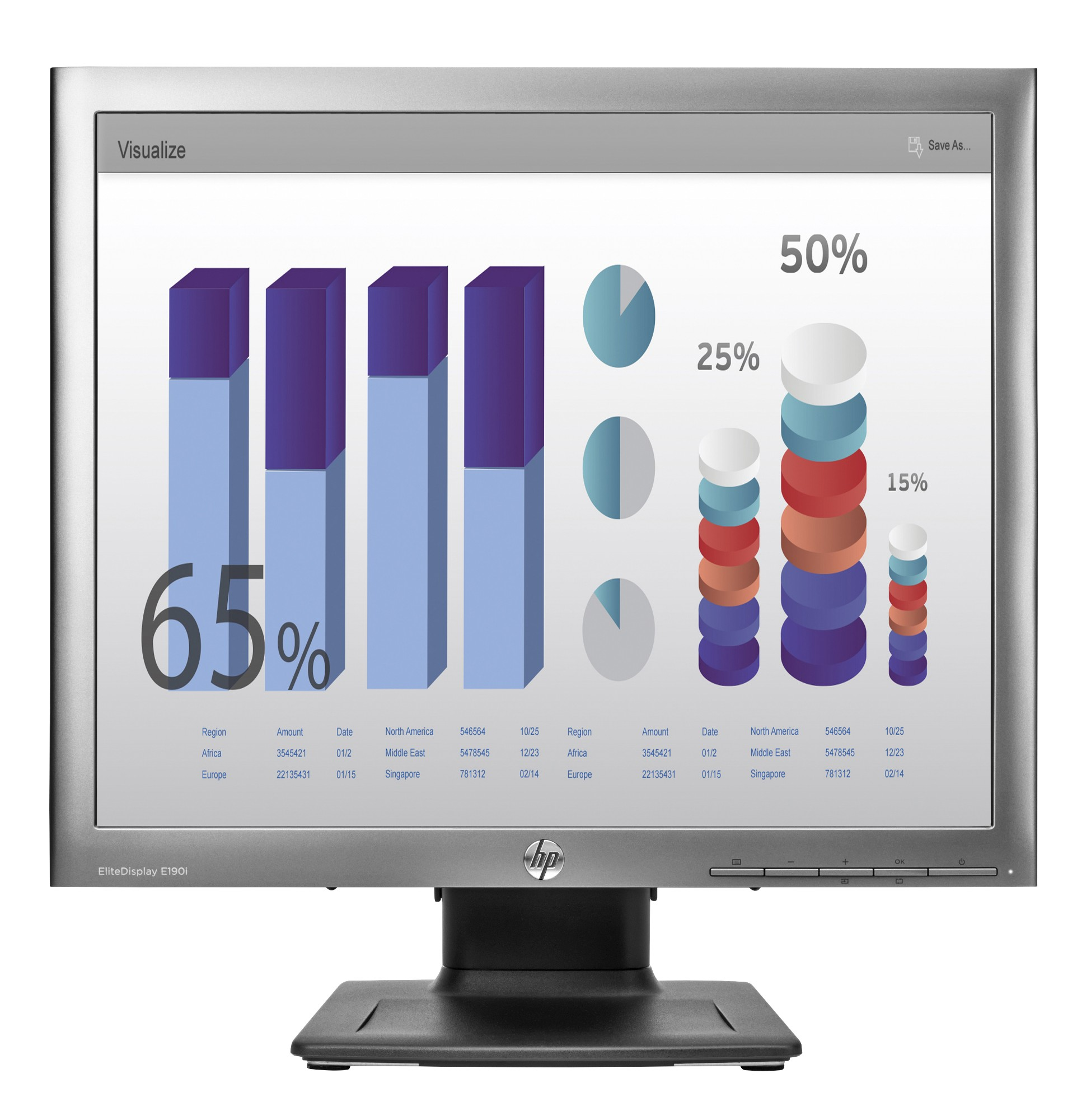 LED Monitor - EliteDisplay E190i - 18.9in - 1280x1024 (SXGA)
