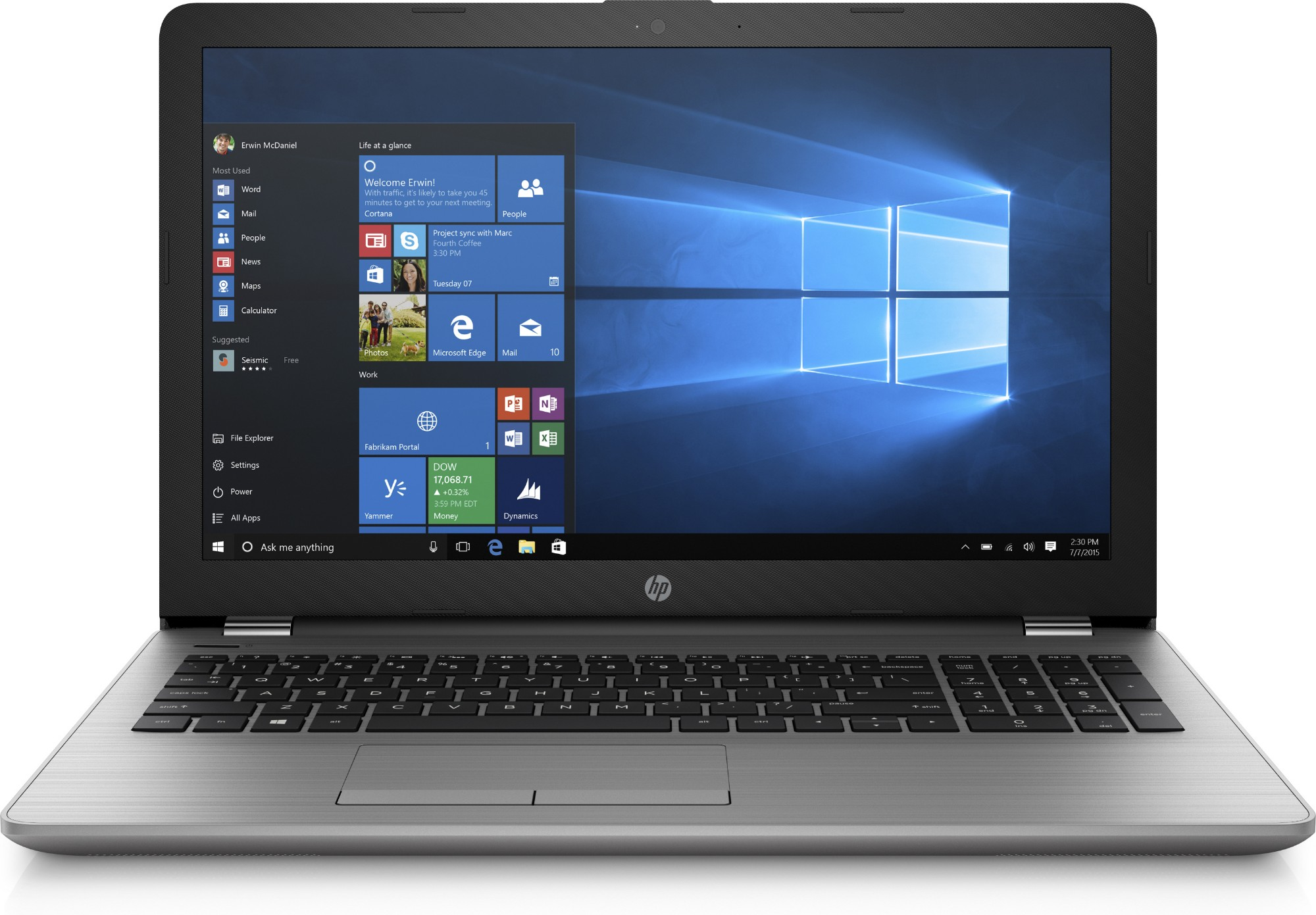 HP 250 G6 Silver Notebook 39 6 cm (15 6