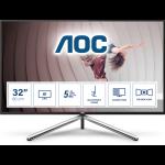 "AOC U32U1 computer monitor 80 cm (31.5"") 3840 x 2160 pixels 4K Ultra HD LED Black, Silver"