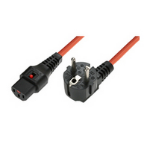 Microconnect EL248S 3m C13 coupler Orange power cable