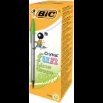 BIC Cristal Fun Ballpoint Pen 0.6mm Line Lime Green PK20